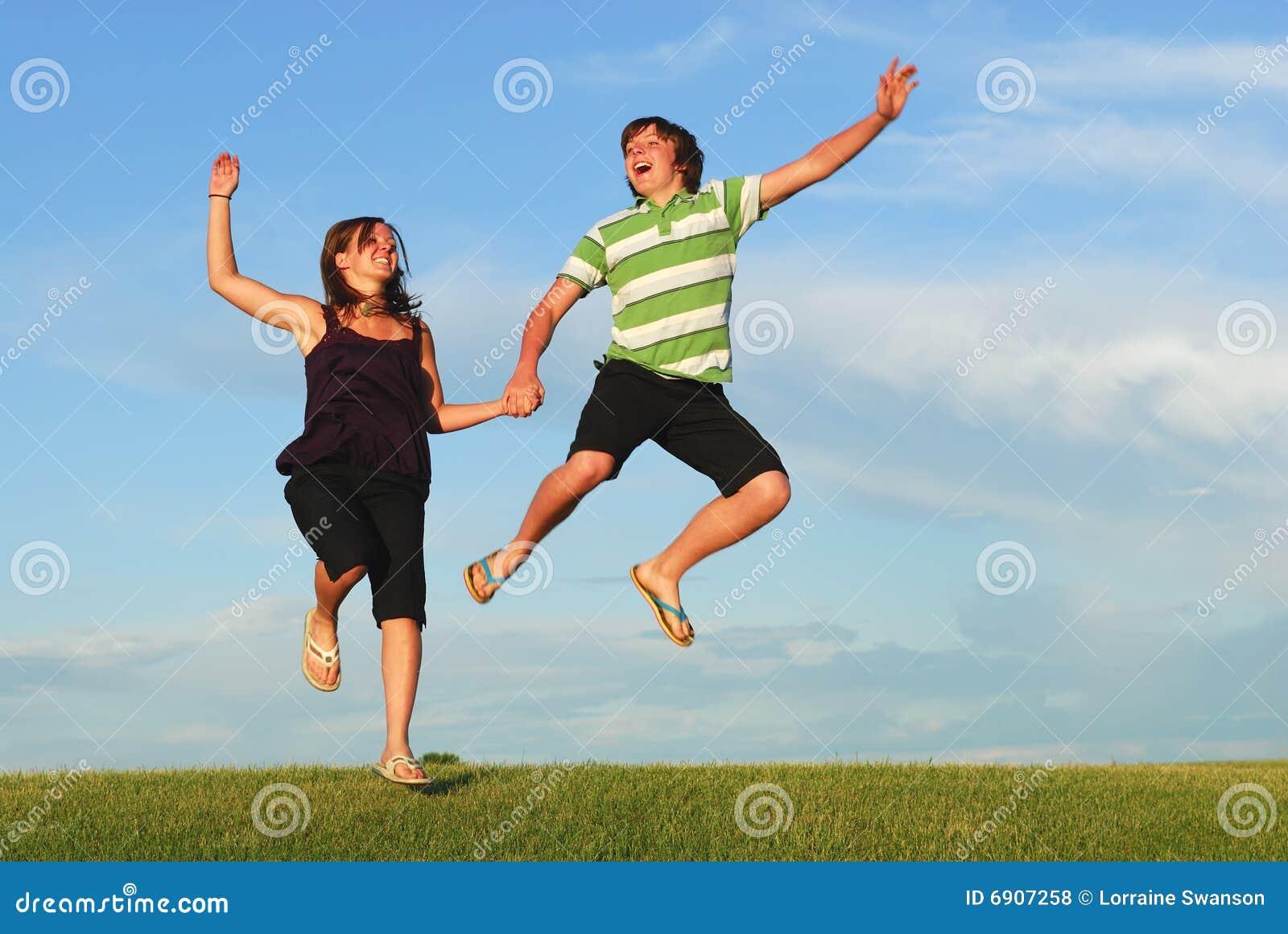 jumping for joy royalty free stock photos image 6907258