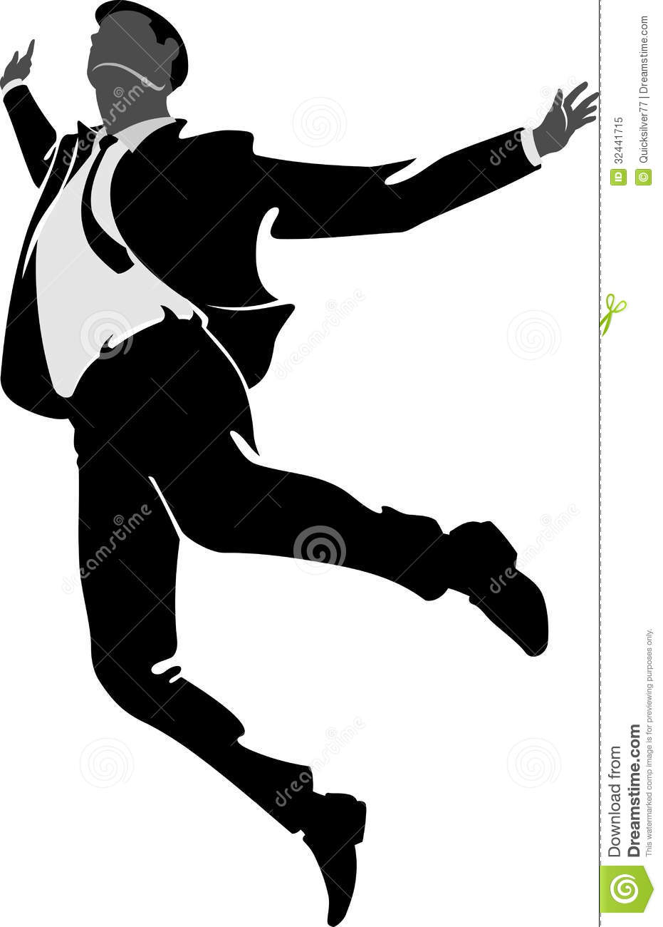 jumping for joy businessman royalty free stock photo