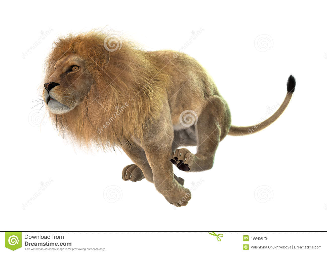 Lion Jumping At You