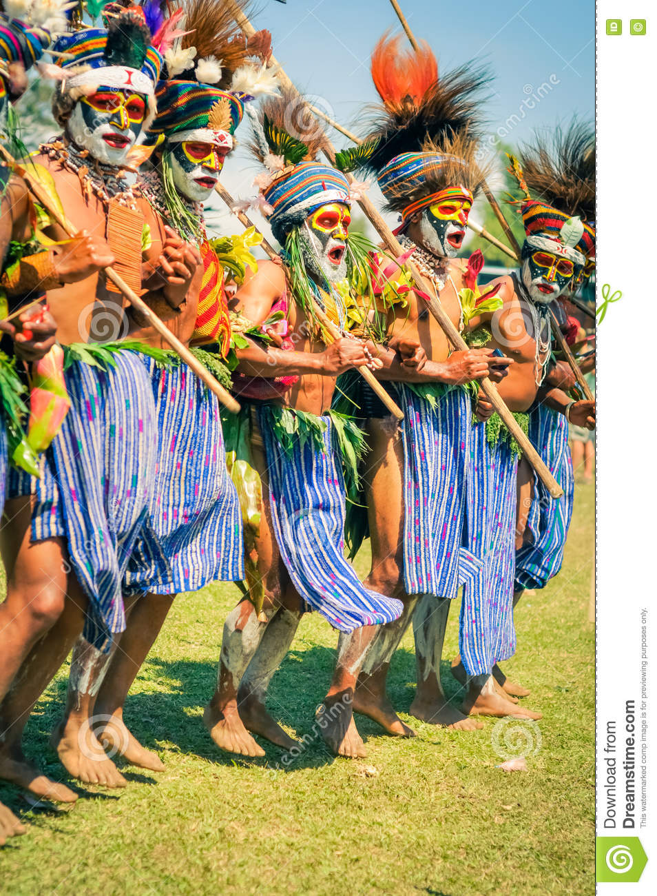Proud Man In Papua New Guinea Editorial Stock Photo