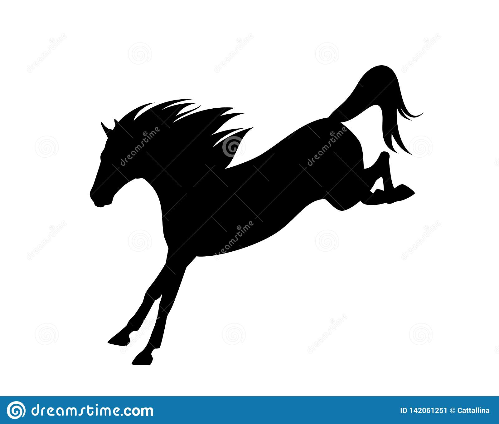 Black Horse Jumping Stock Illustrations 1 537 Black Horse Jumping Stock Illustrations Vectors Clipart Dreamstime