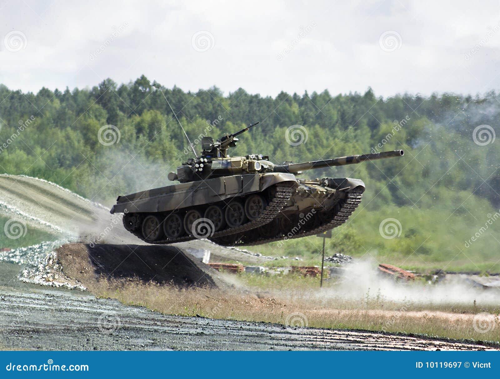 jumping tank royalty free stock photography image 10119697