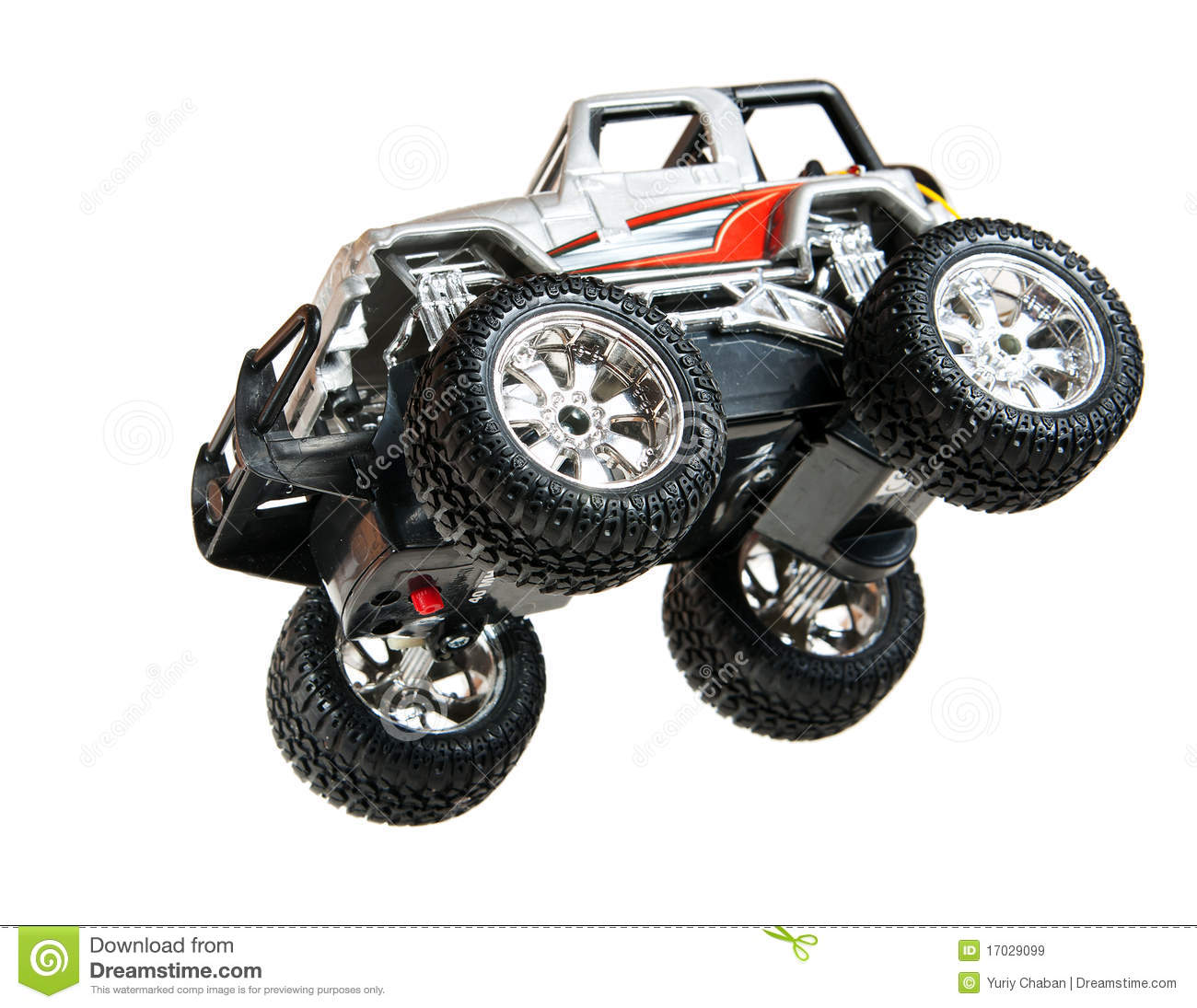 Jumping Toy Car Royalty Free Stock Images