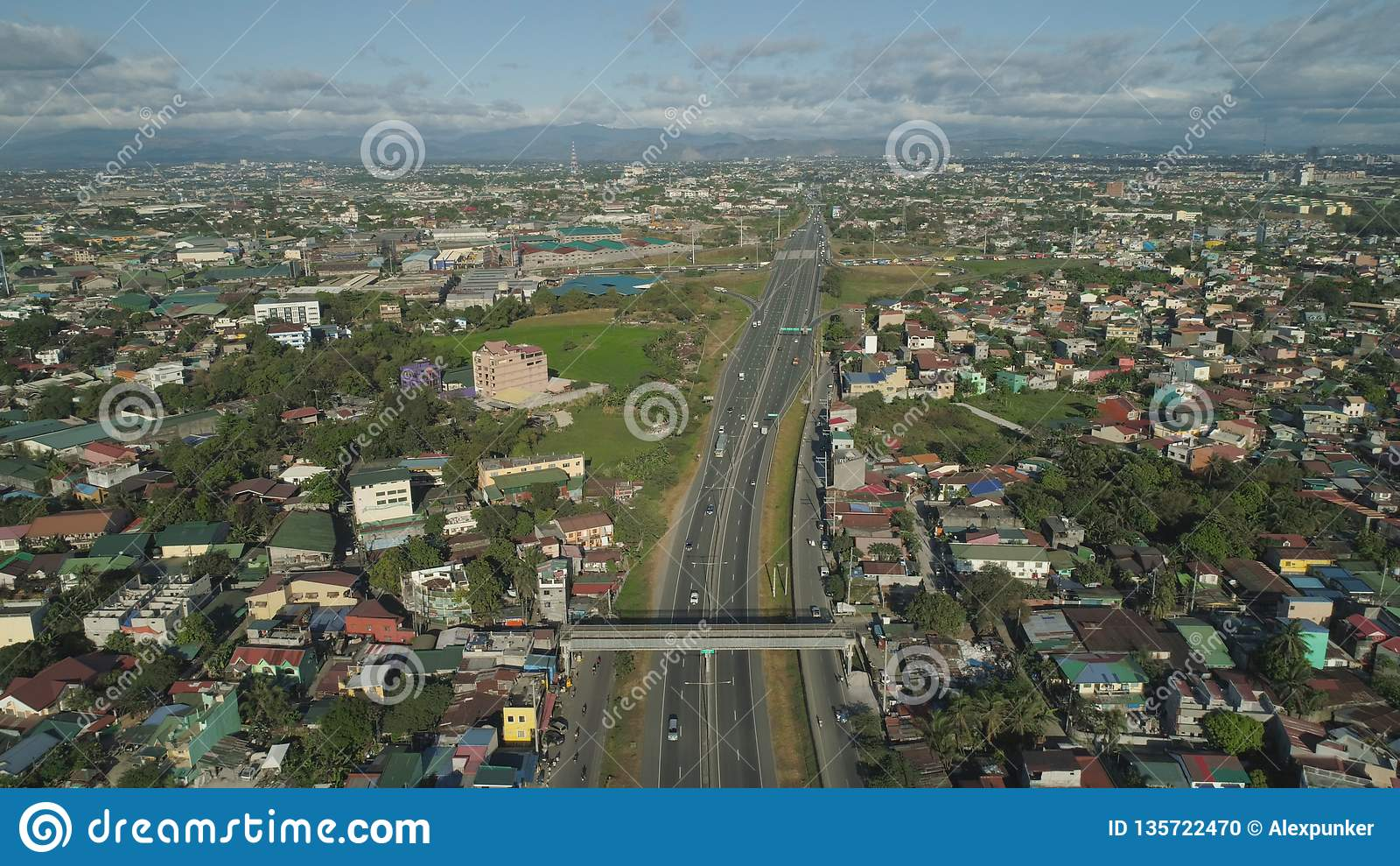 Junção de estrada em Manila, Filipinas