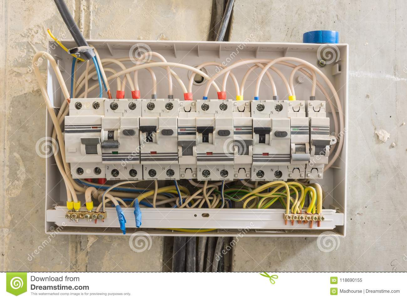 Apartment Phone Wiring Box Complete Diagrams Outdoor Telephone Junction In Differential Automatons And Circuit Rh Dreamstime Com