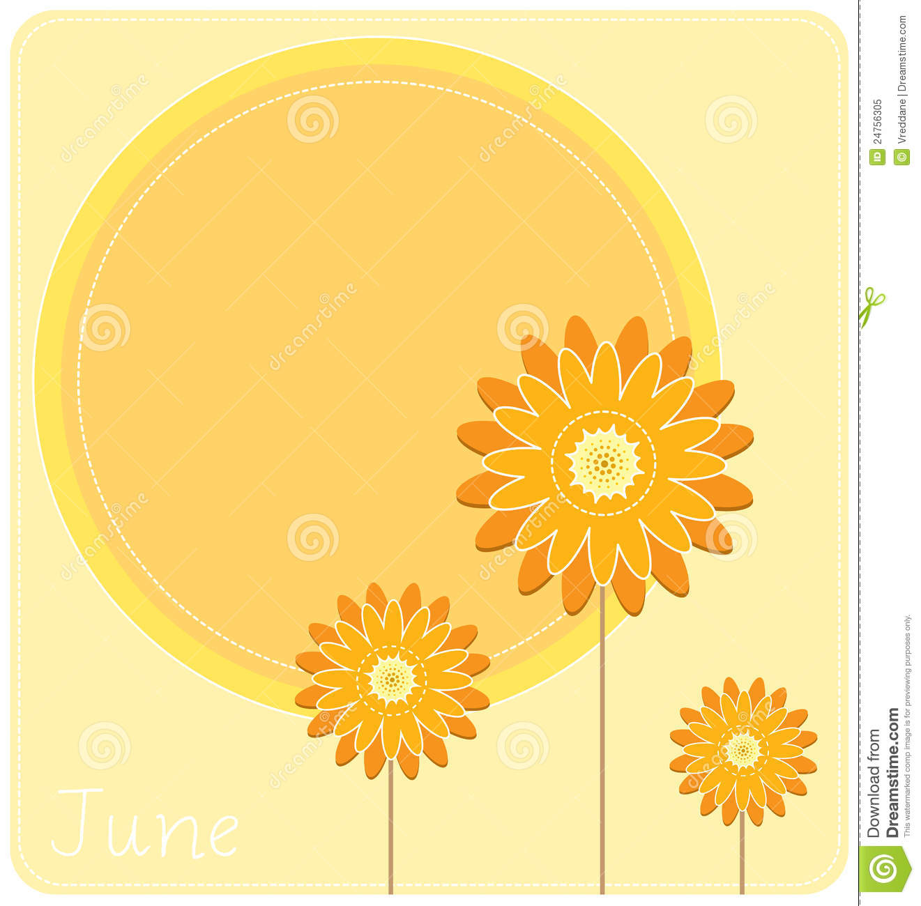 Calendar April Vector : June background royalty free stock photo image