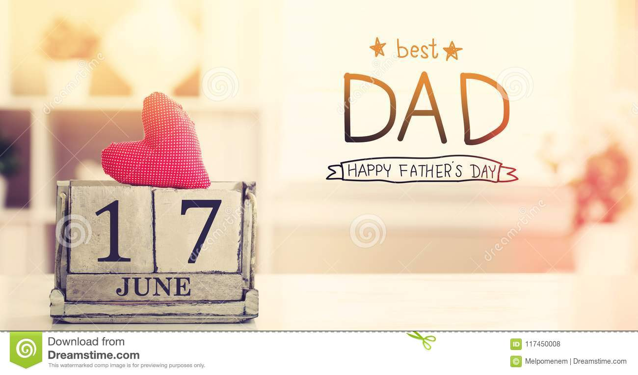 17 June Best Dad message with calendar