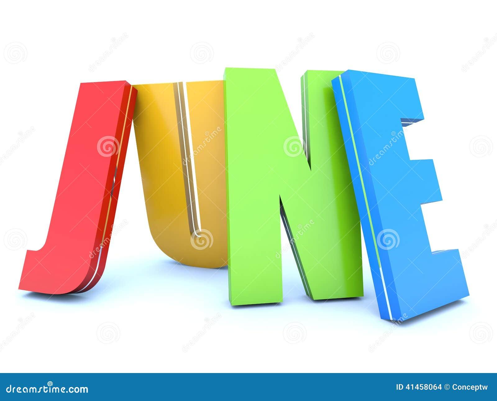 June Calendar Header : June calendar month stock illustration image