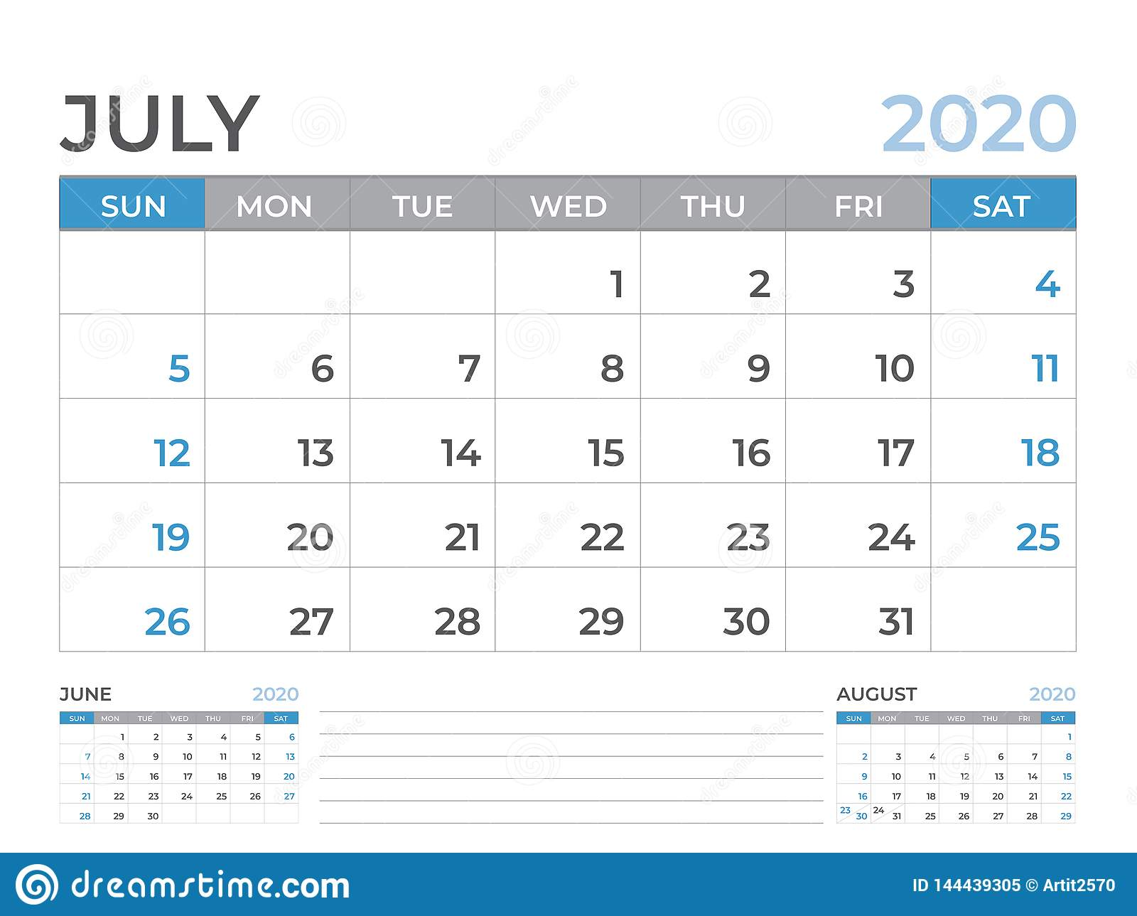 2020 Desk Calendar.June 2020 Calendar Template Desk Calendar Layout Size 8 X 6 Inch
