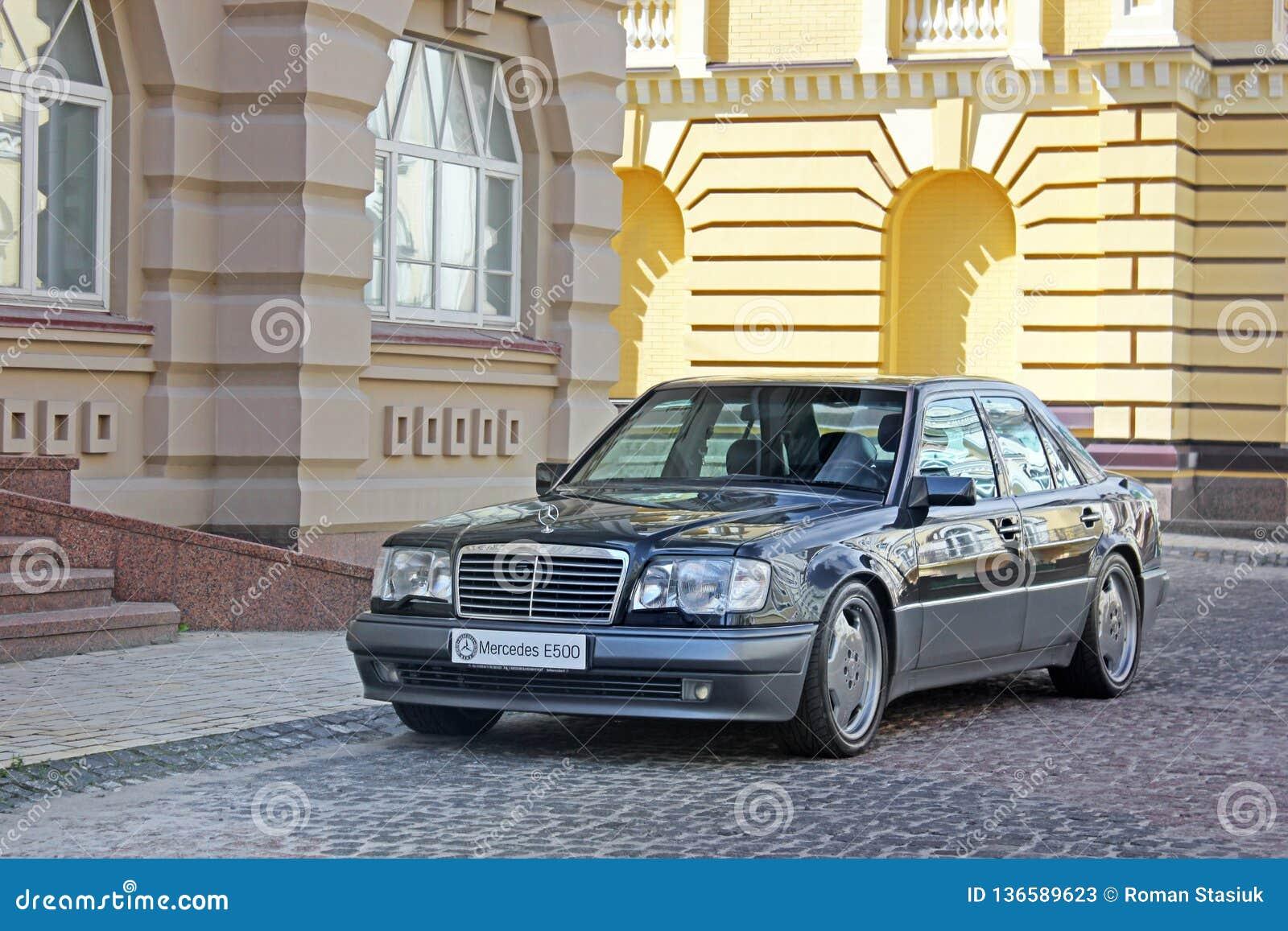 June 12, 2011, Kiev - Ukraine  Mercedes E500 W124 Wolf On The