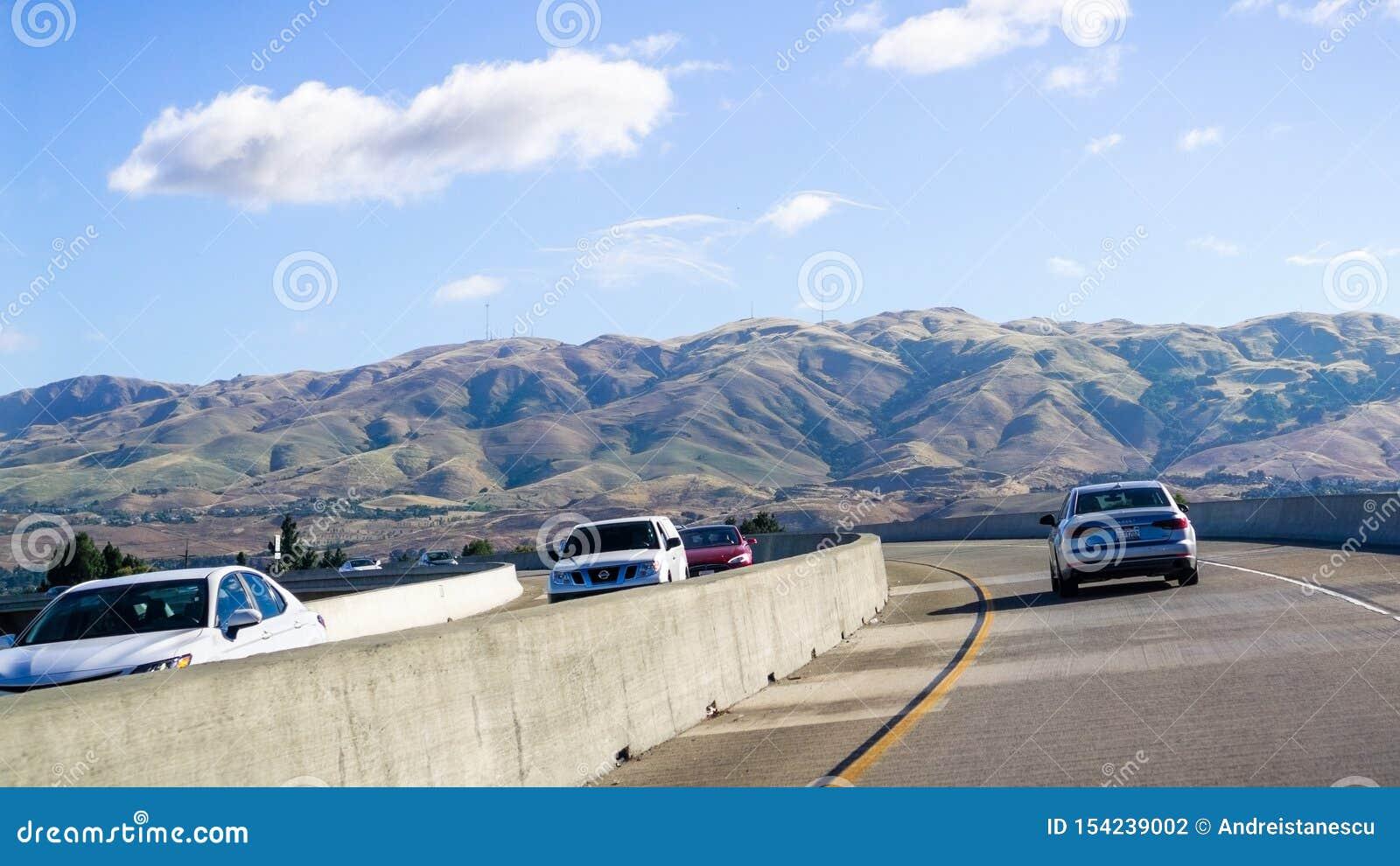 Express Lane California >> June 26 2019 Milpitas Ca Usa Driving On The Express