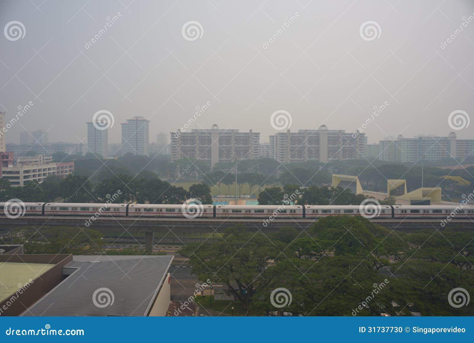 21 June 2013, Singapore, Haze over Singapore Residential