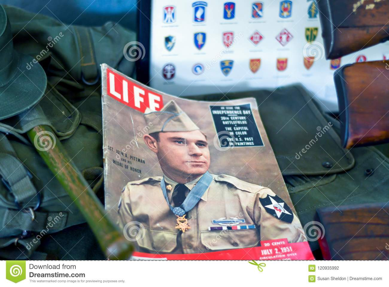 Old Life Military Magazine On Display Editorial Photography - Image