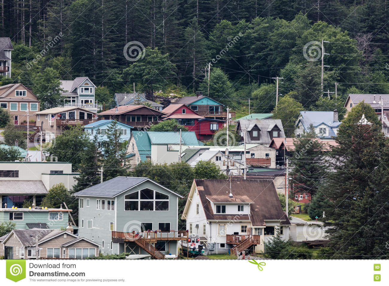Juneau Alaska Homes Editorial Photography Image 75164787