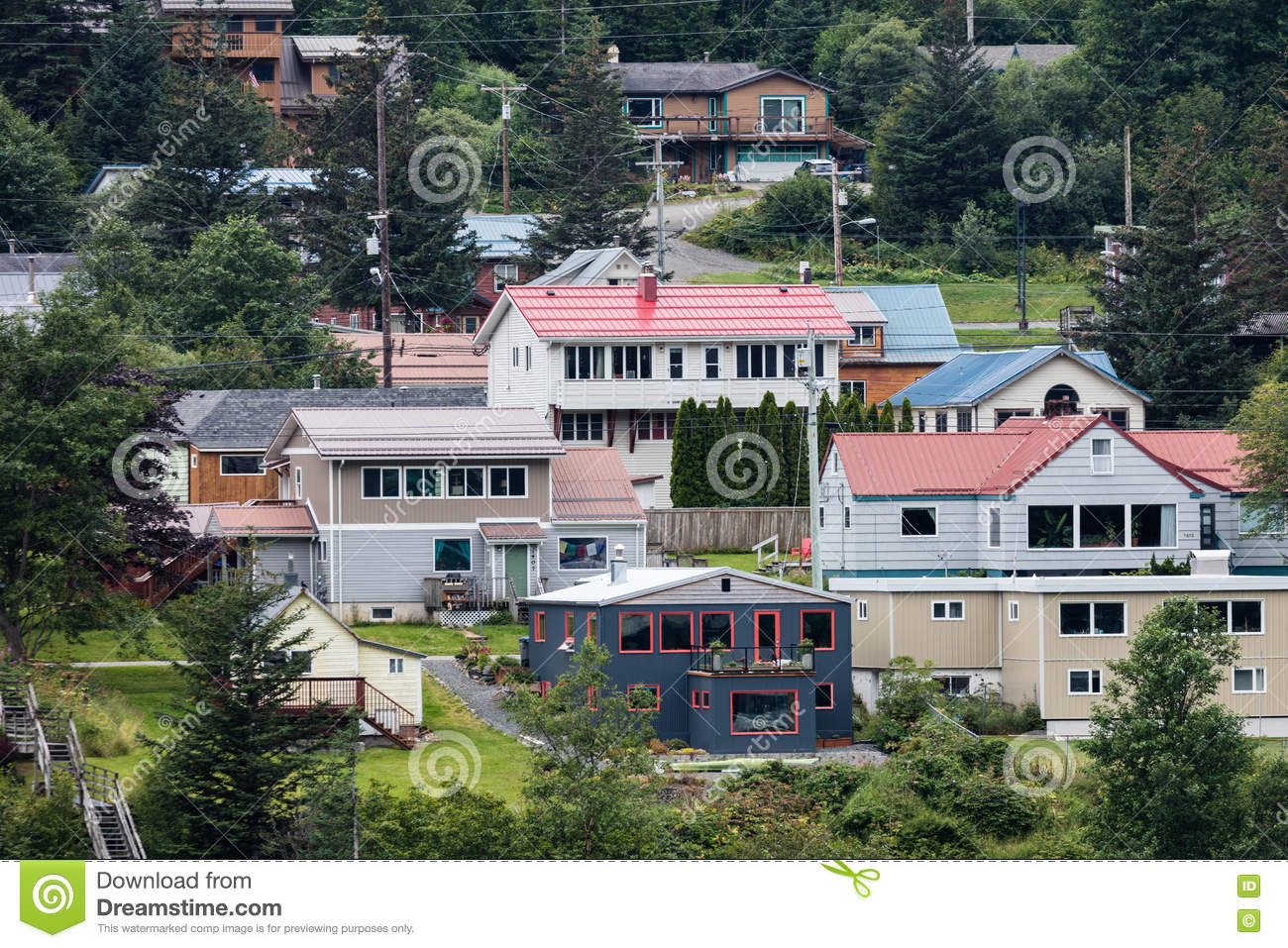 Juneau alaska editorial image image 75164850 for Home builders alaska