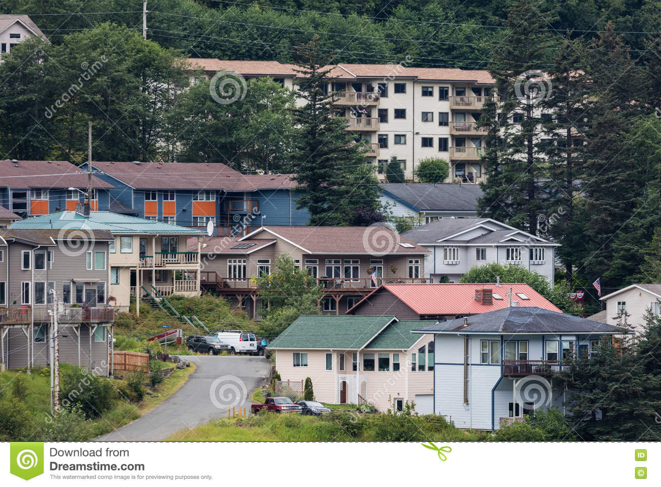 Juneau alaska editorial stock photo image 75164868 for Home builders alaska