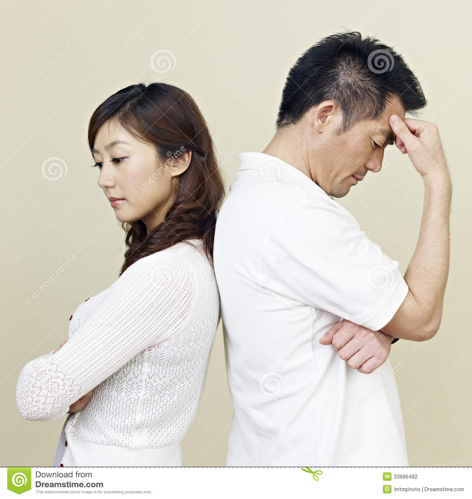 Junge asiatische Paare
