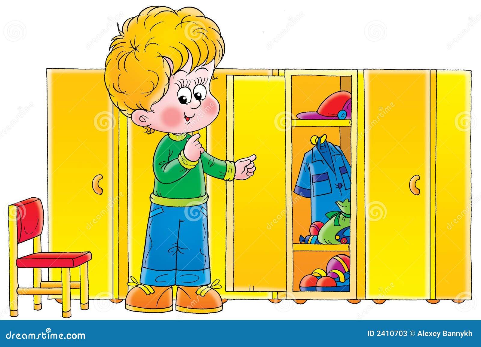 Junge in der garderobe stockfotos bild 2410703 for Garderobe junge