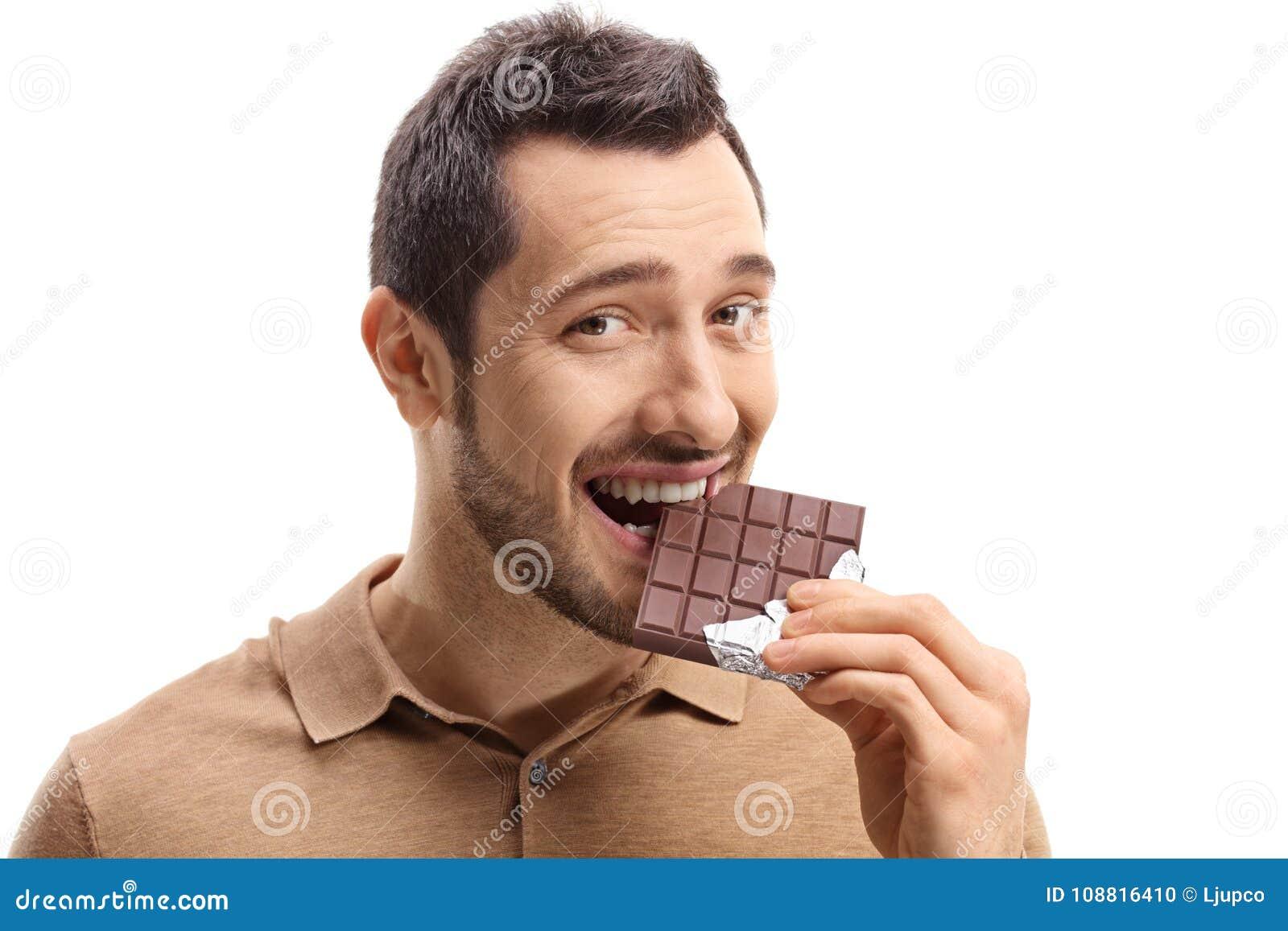 Junge Fleisch fressende Schokolade