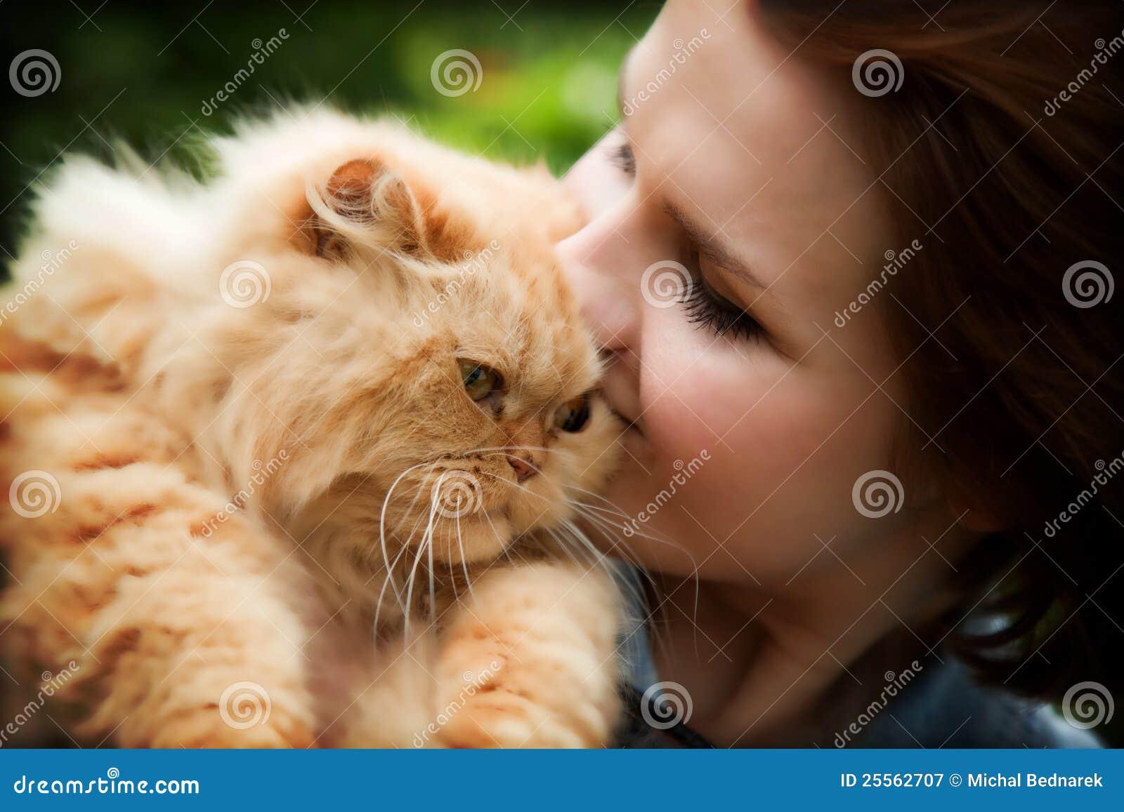 Katze mit Frau Muschi