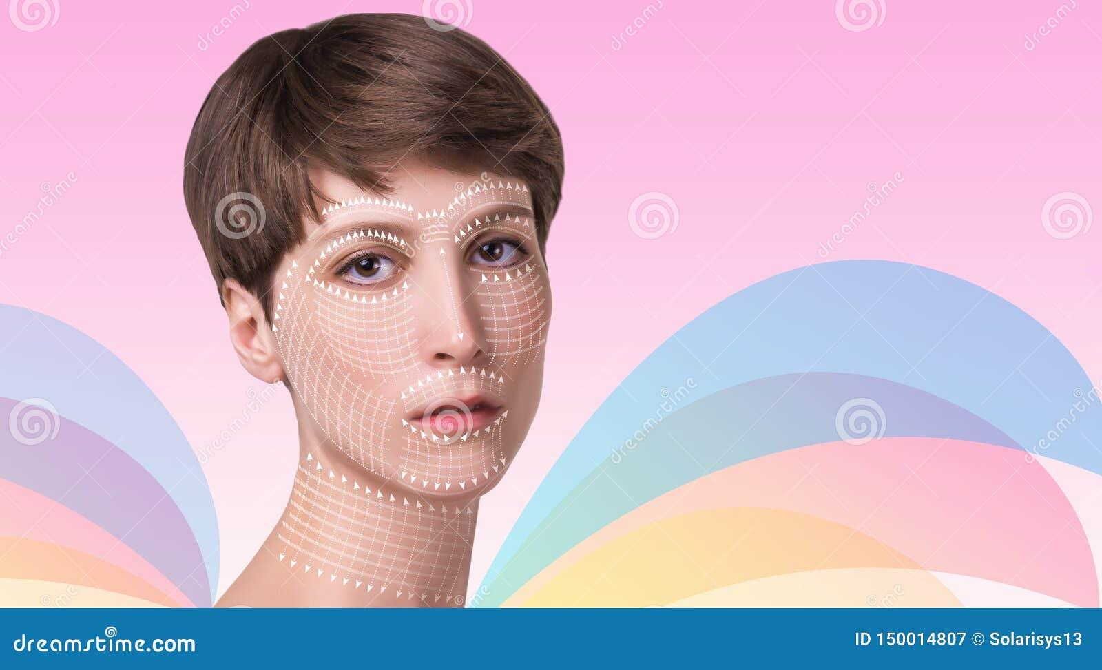 Junge Frau mit sauberer frischer Haut