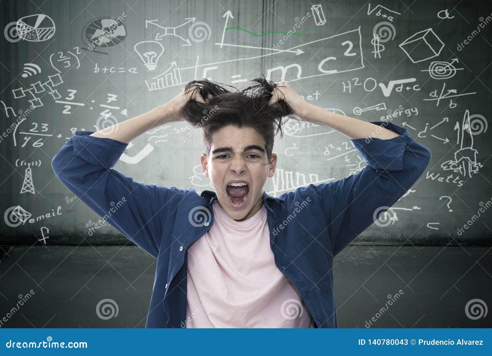 Junge frustriert ?ber Ausbildung