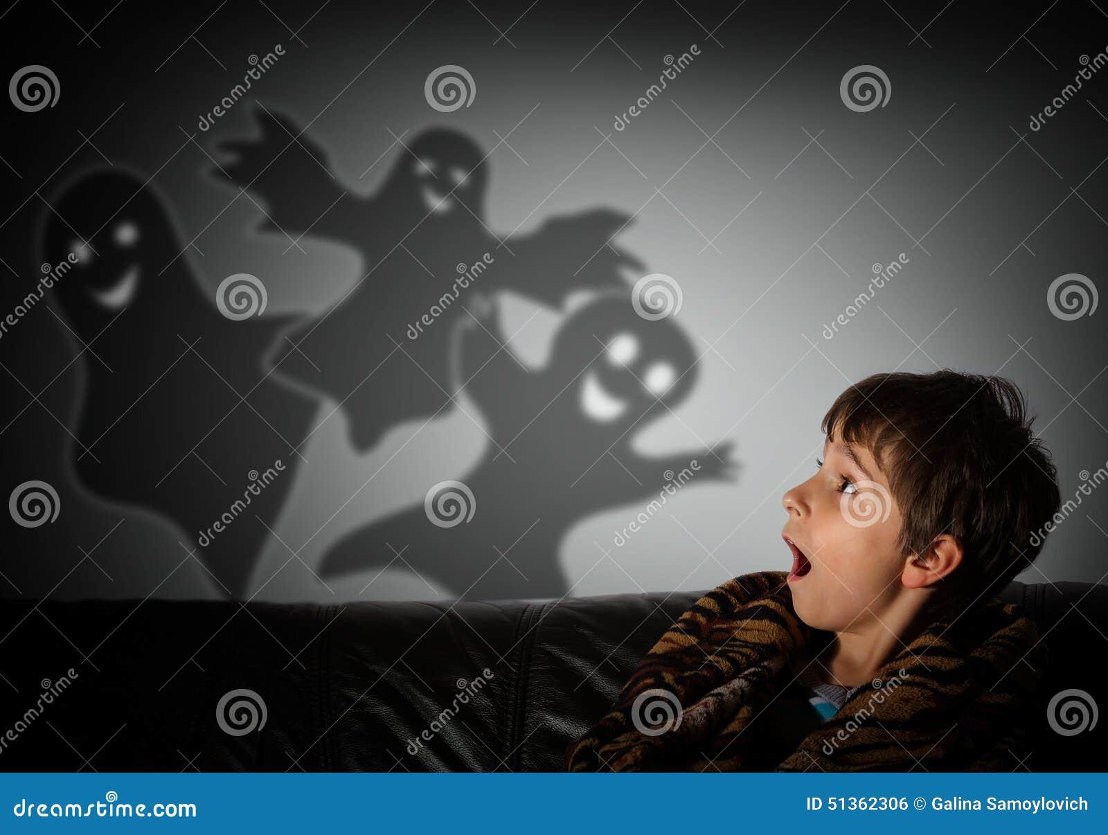 Kind Hat Nachts Angst
