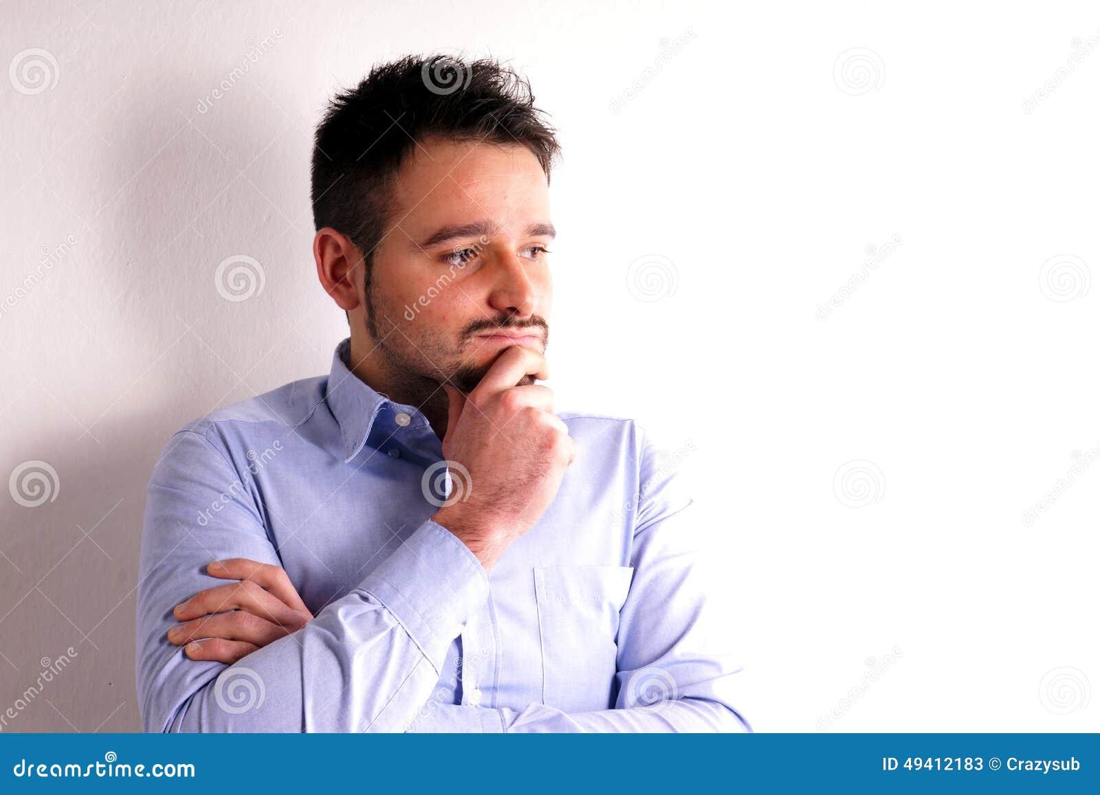 Download Junge mit Hemd stockbild. Bild von aufwerfung, hemd, mann - 49412183