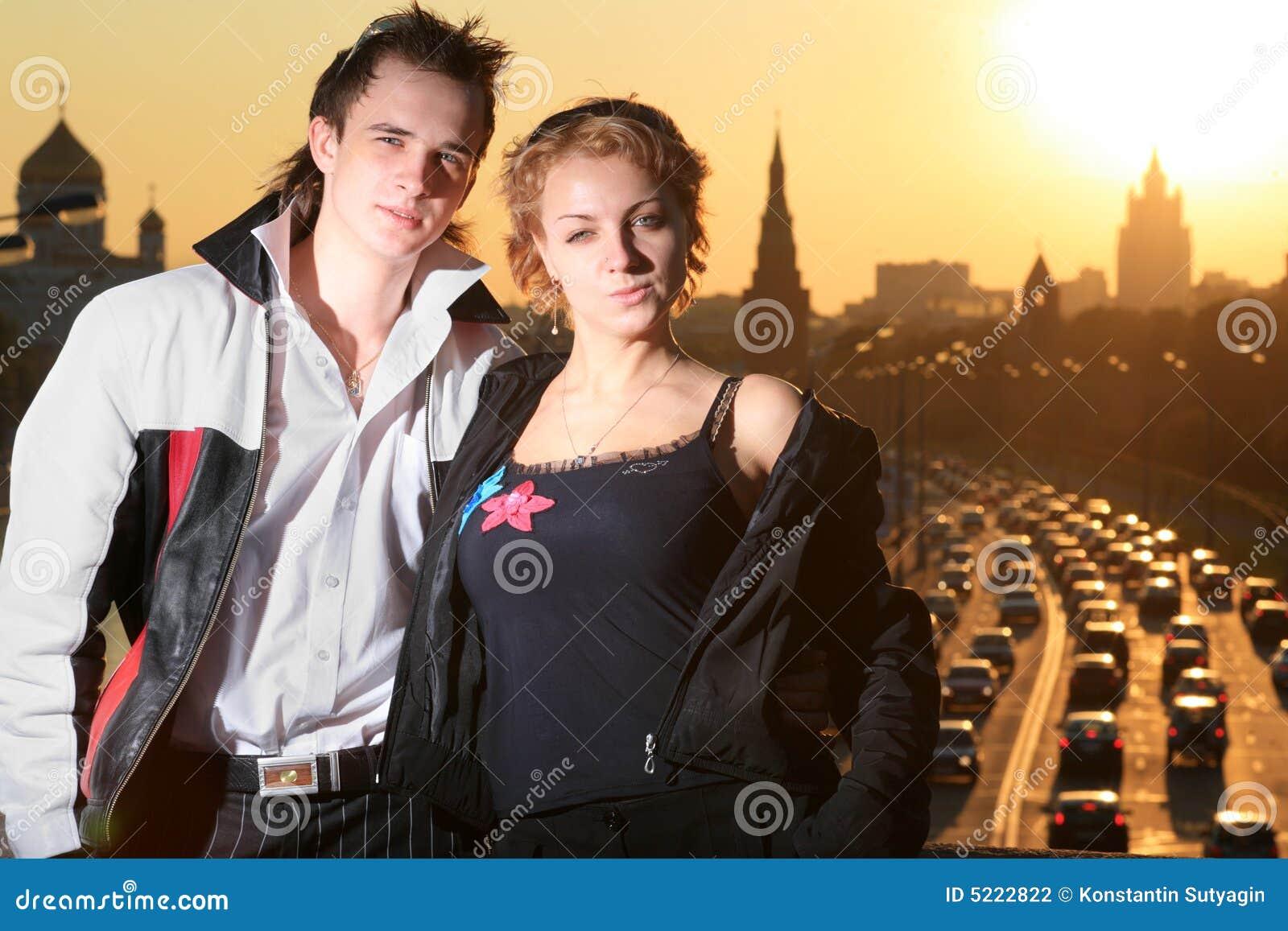 Junge Paare Moskau