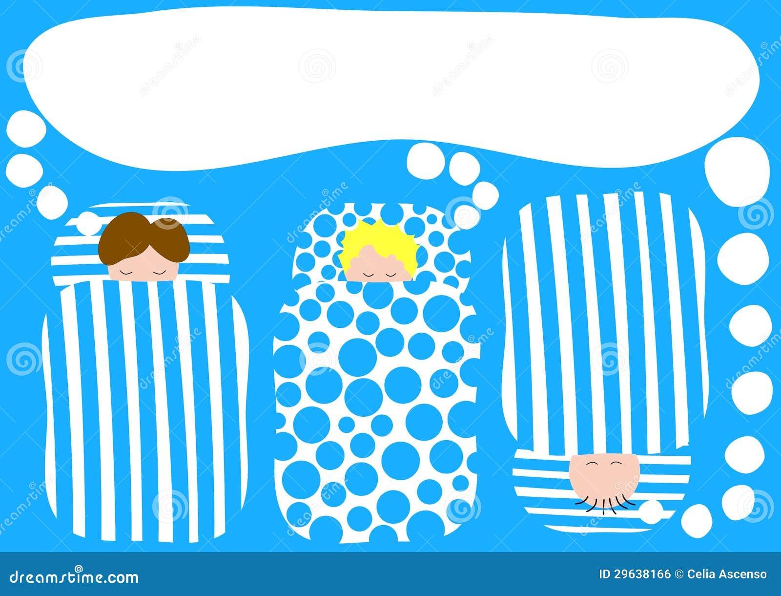 Jungen In Der Schlafsack Pyjama Parteieinladung