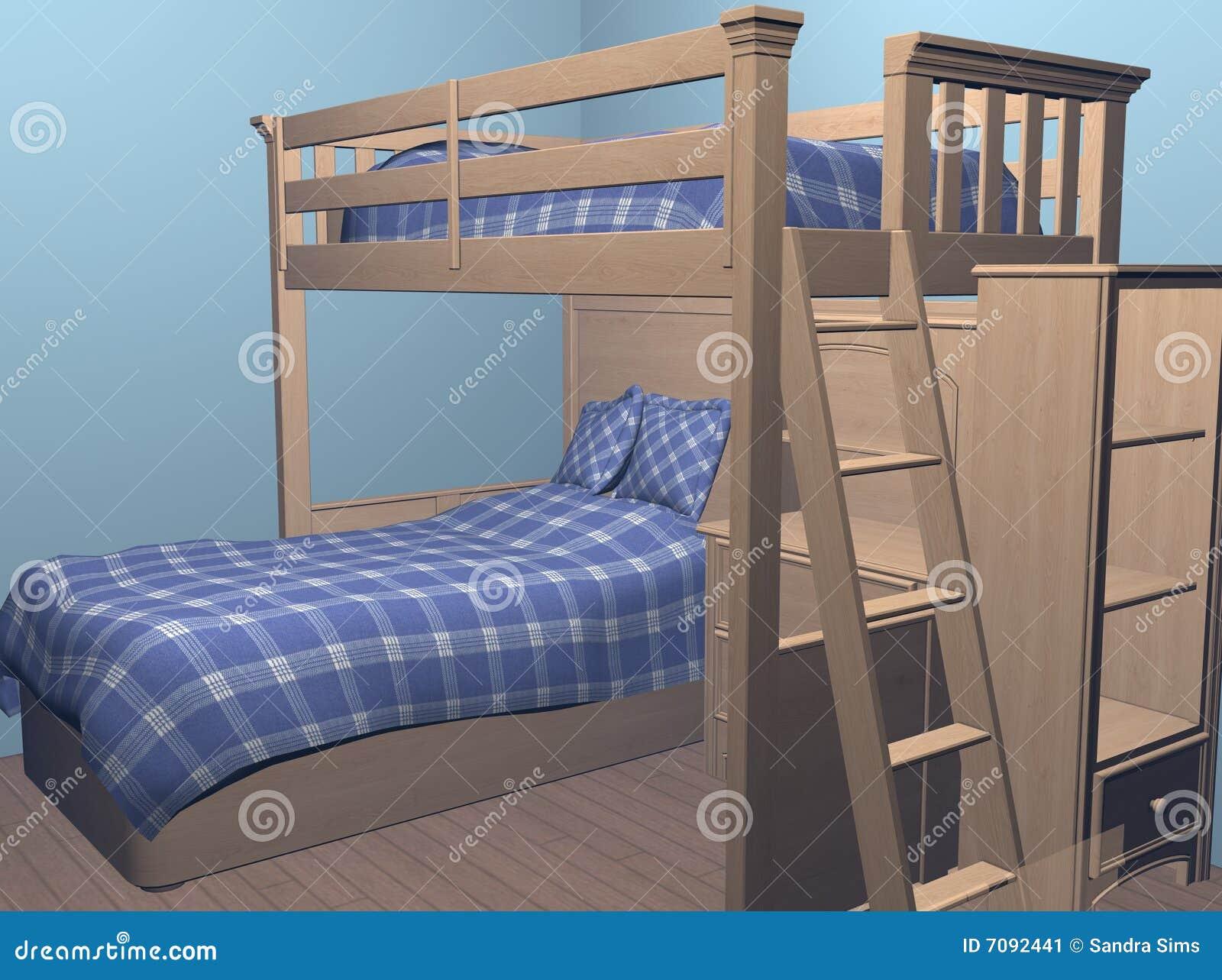 jungen schlafzimmer stock abbildung illustration von blau