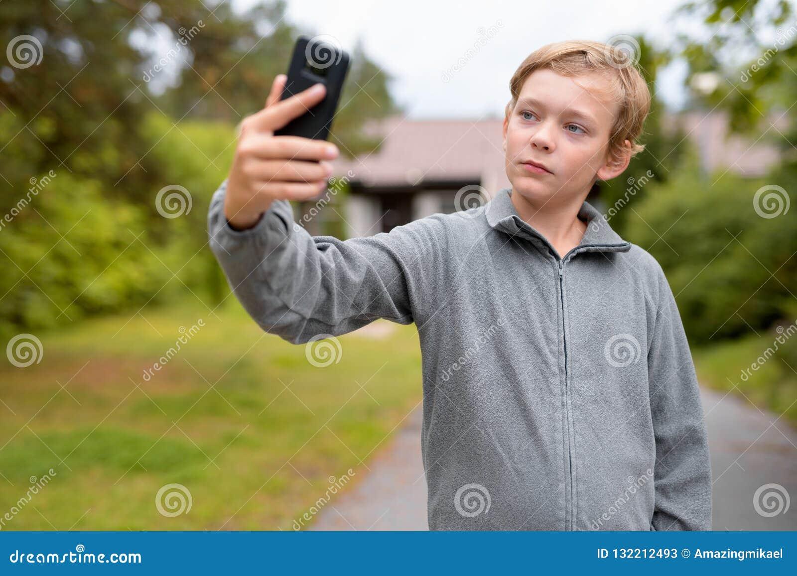 Junge selfie hübscher — Mein