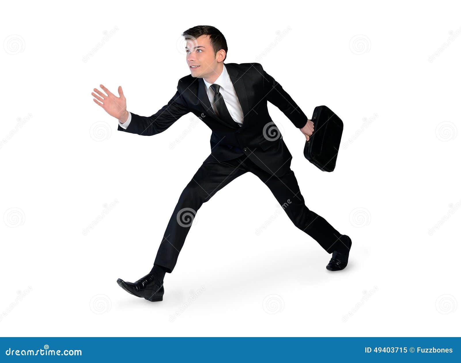 Download Junger Geschäftsmannbetrieb Stockbild - Bild von leute, rennen: 49403715