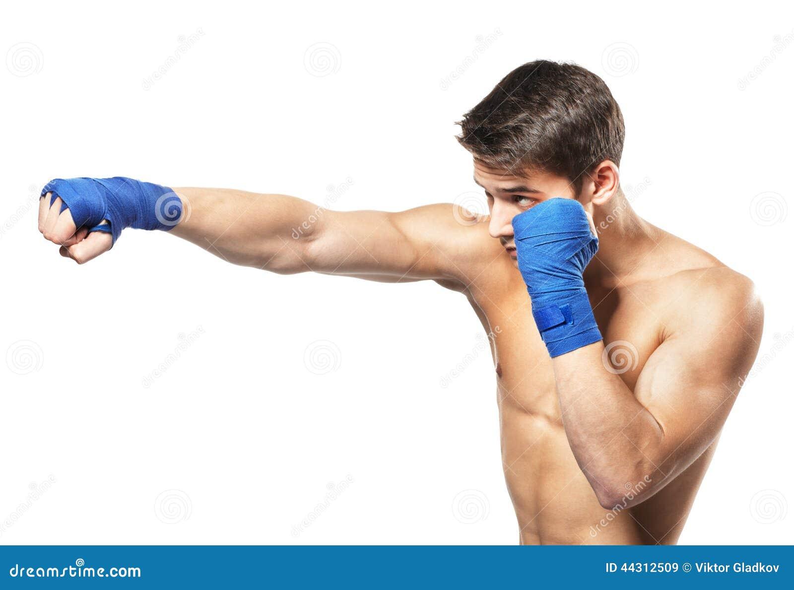 Junger hübscher männlicher Boxer