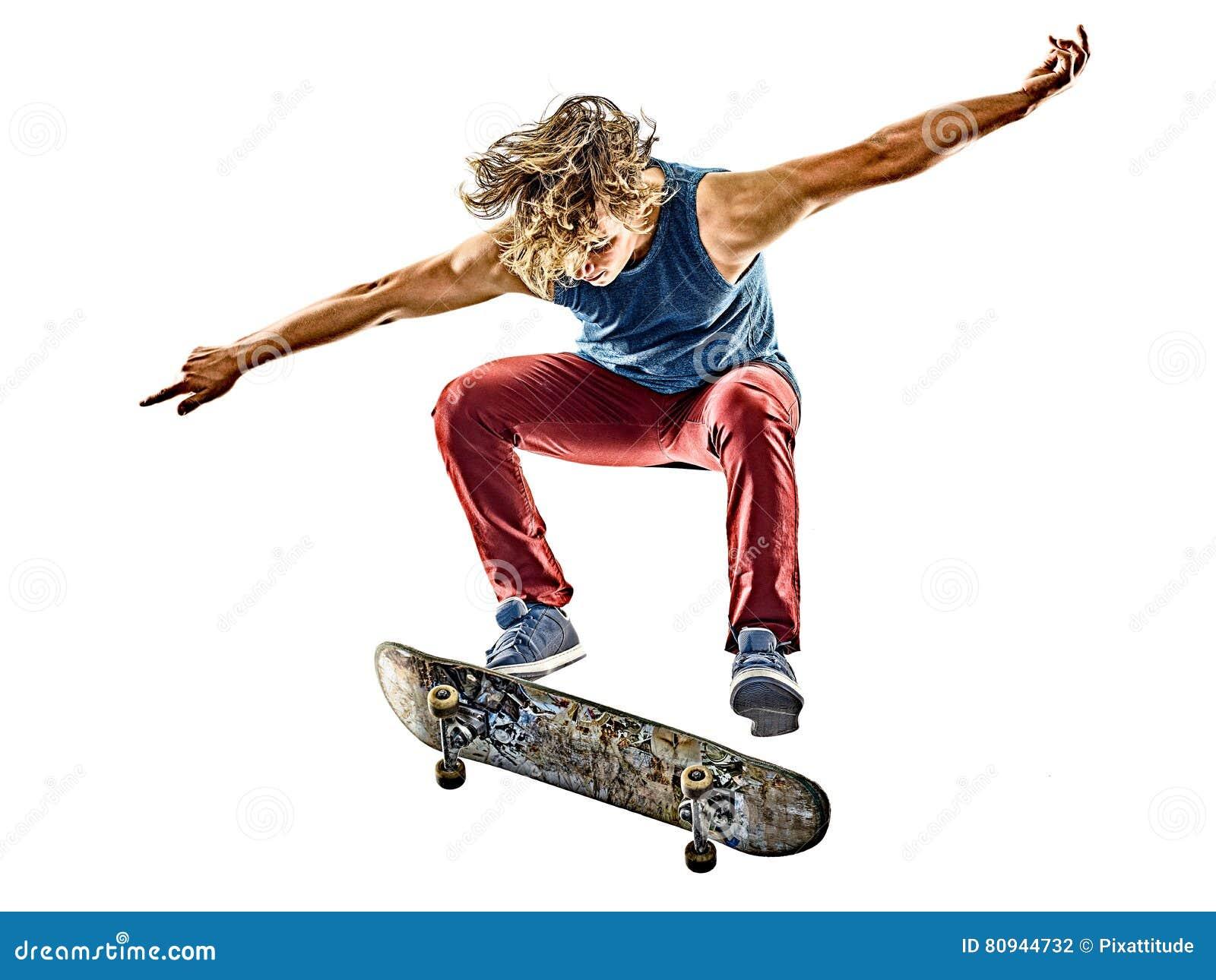 Junger Jugendlichmann des Skateboardfahrers lokalisiert