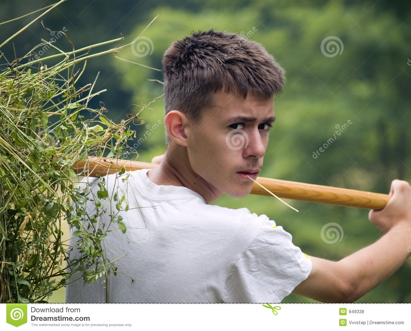 Junger landwirt bei der arbeit  Junger Landwirt Lizenzfreie Stockfotos - Bild: 949338