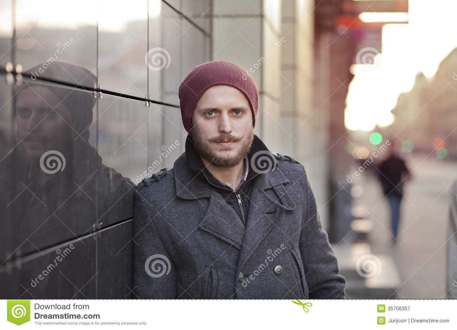 Mann Mit Schnurrbart