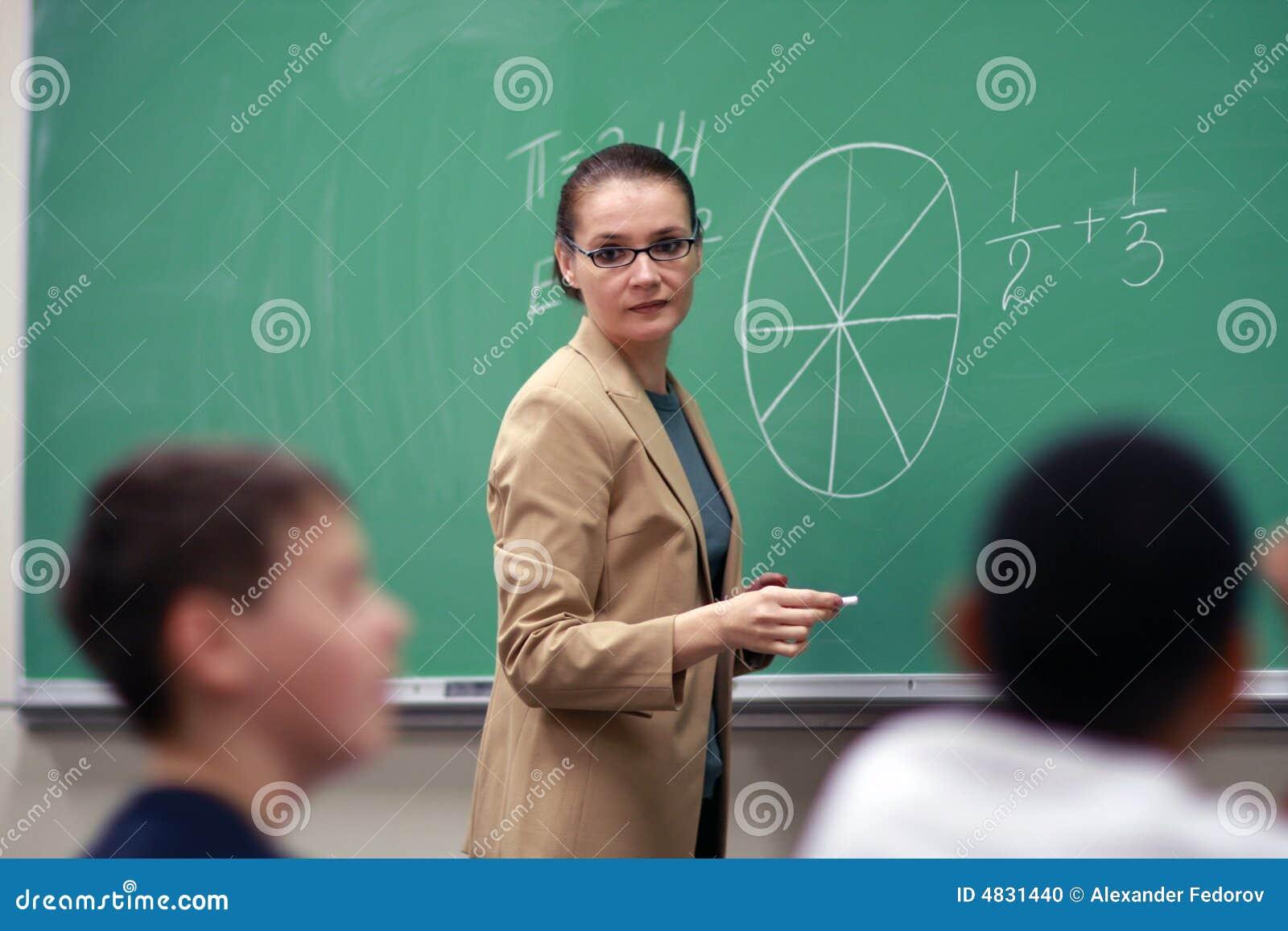 Junger weiblicher Lehrer