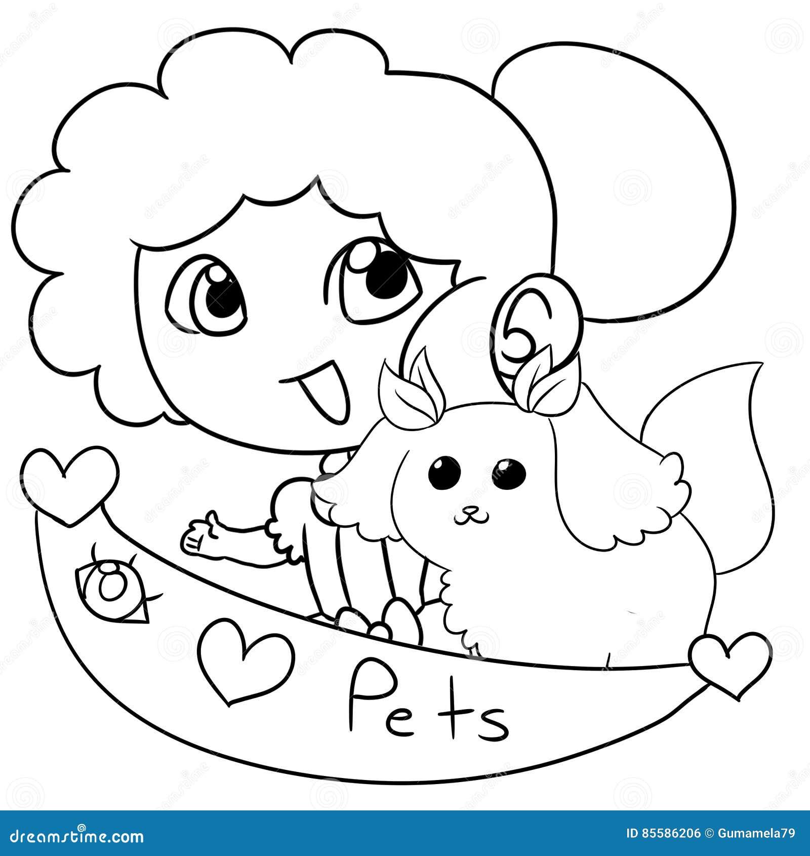 Junges Mädchen mit einem Haustier