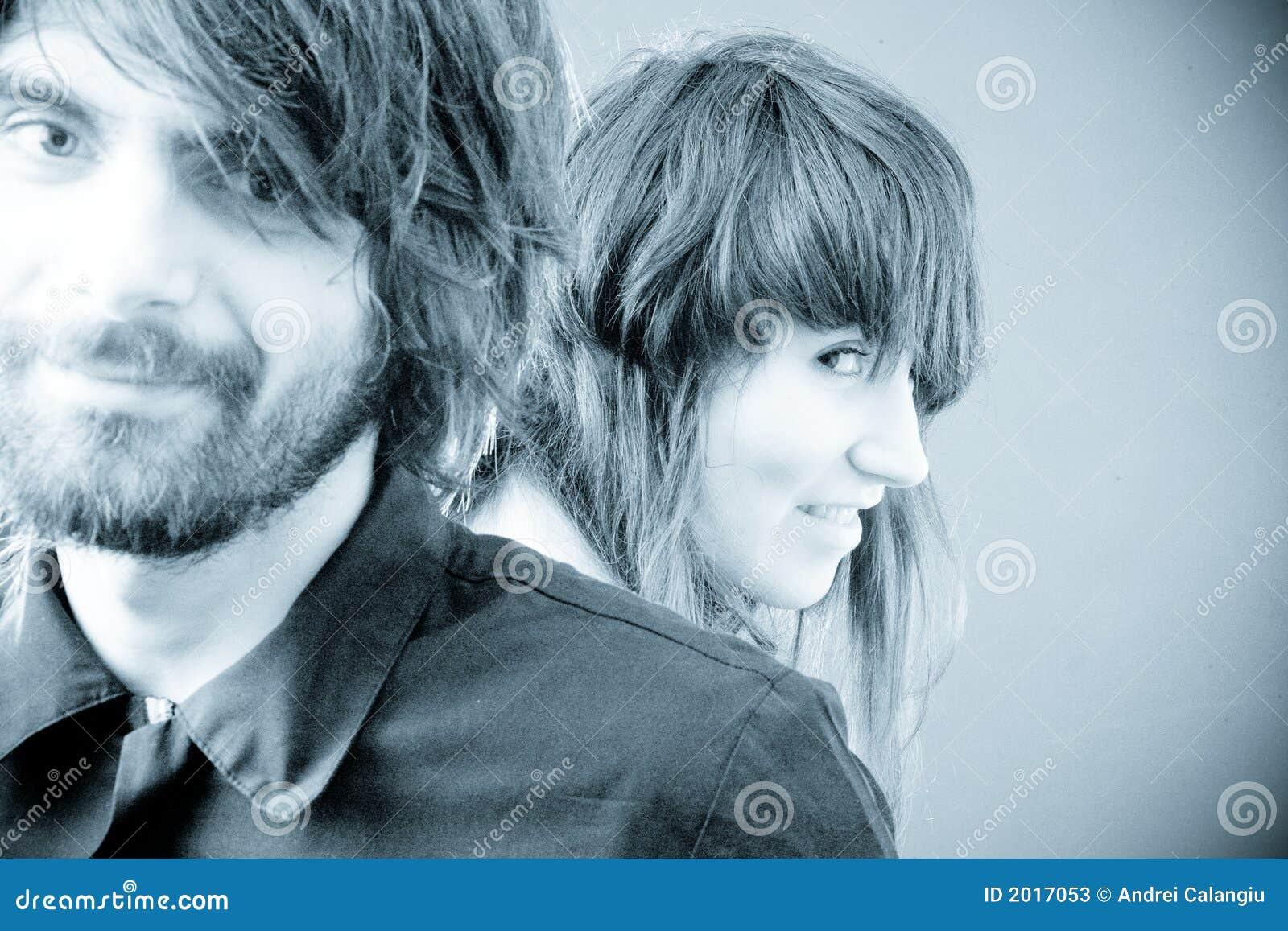 Junges Paar-Portrait