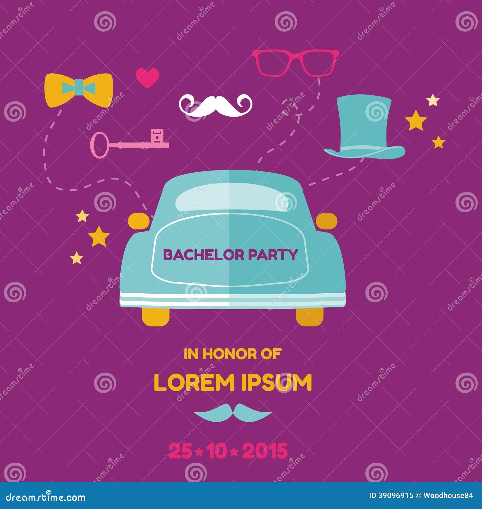 Jungesellen-Party-Karte - Hochzeits-Einladungs-Karte - mit Platz für ...