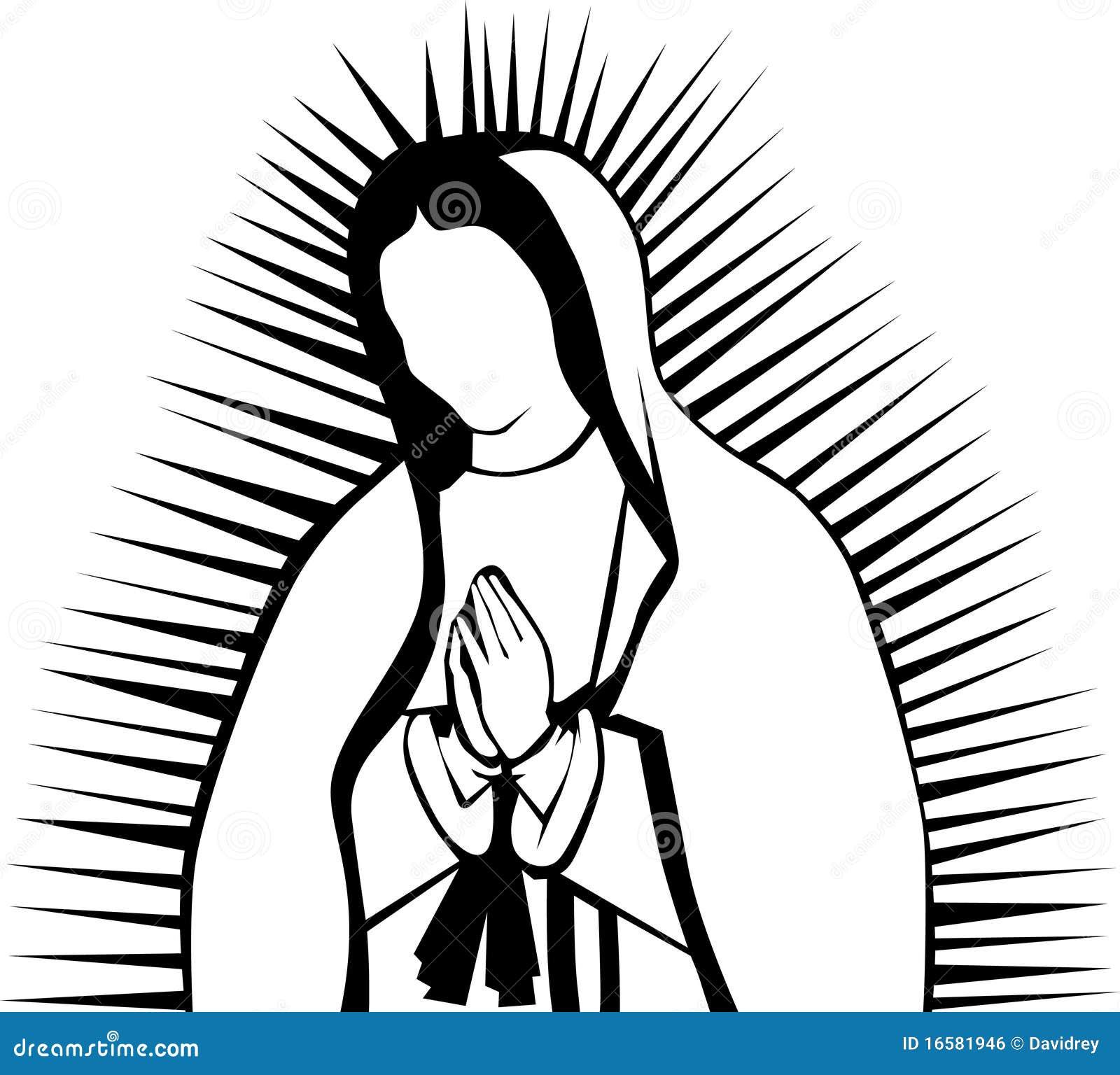 Jungfrau Von Guadalupe Vektor Abbildung Illustration Von Rein