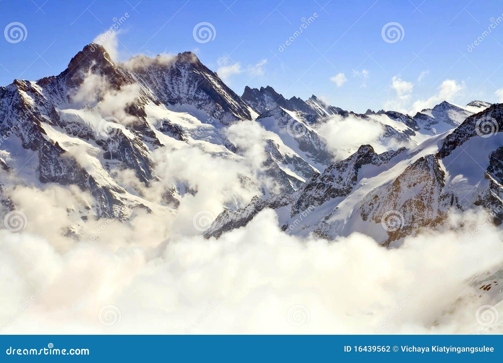 Jungfraujoch υδρονέφωση Ελβετία