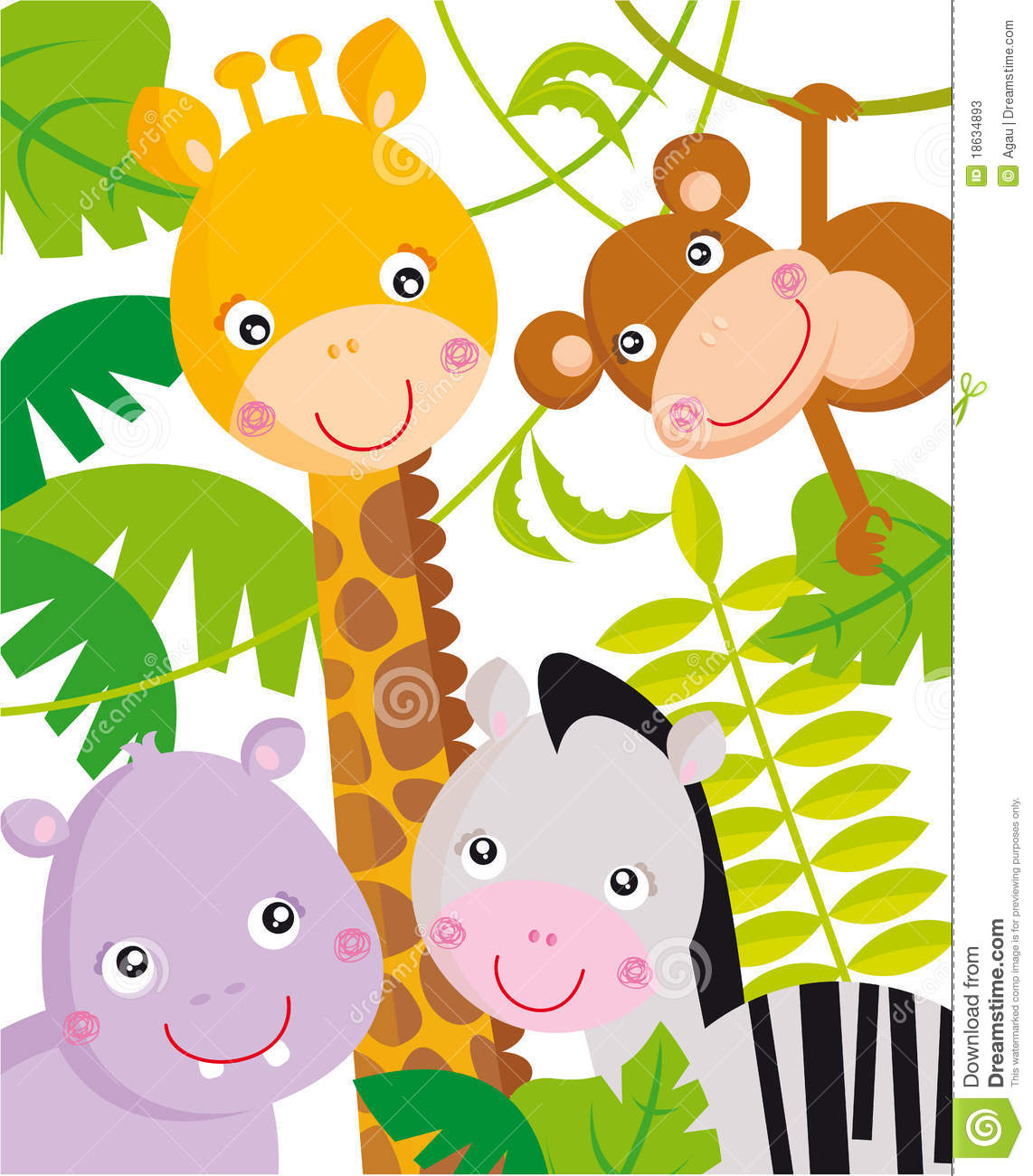 Free cartoon baby animal clip art free vector download