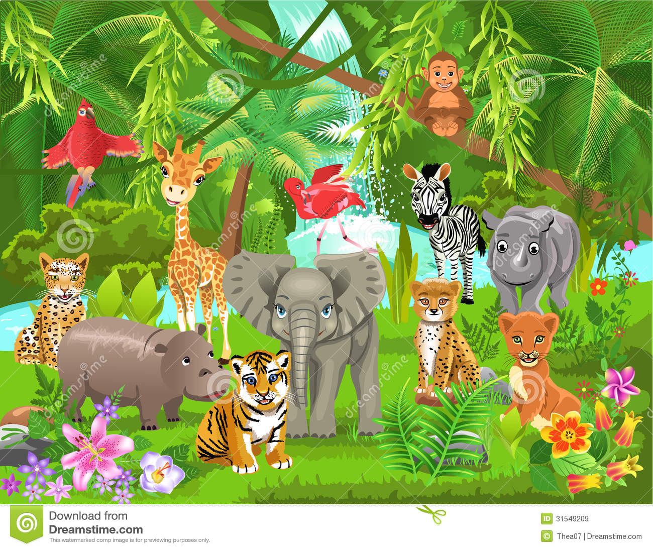 jungle animals stock vector illustration of african 31549209