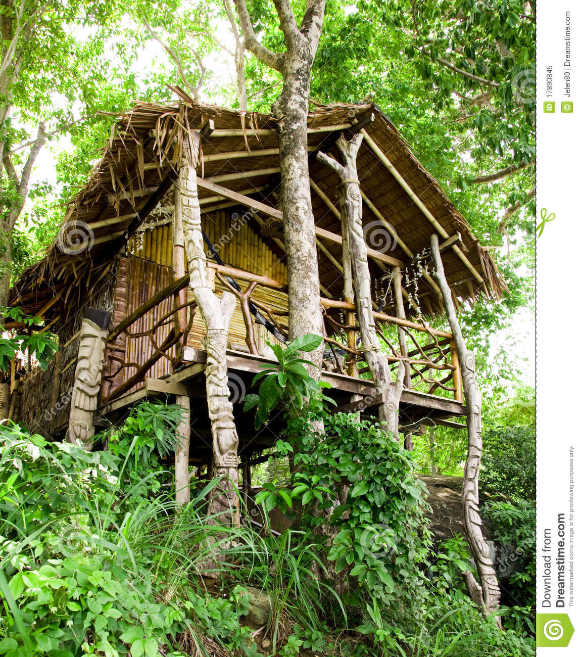 Phi Phi Beach Bungalows: Jungle Bungalow In Phi Phi Island Royalty Free Stock Photo
