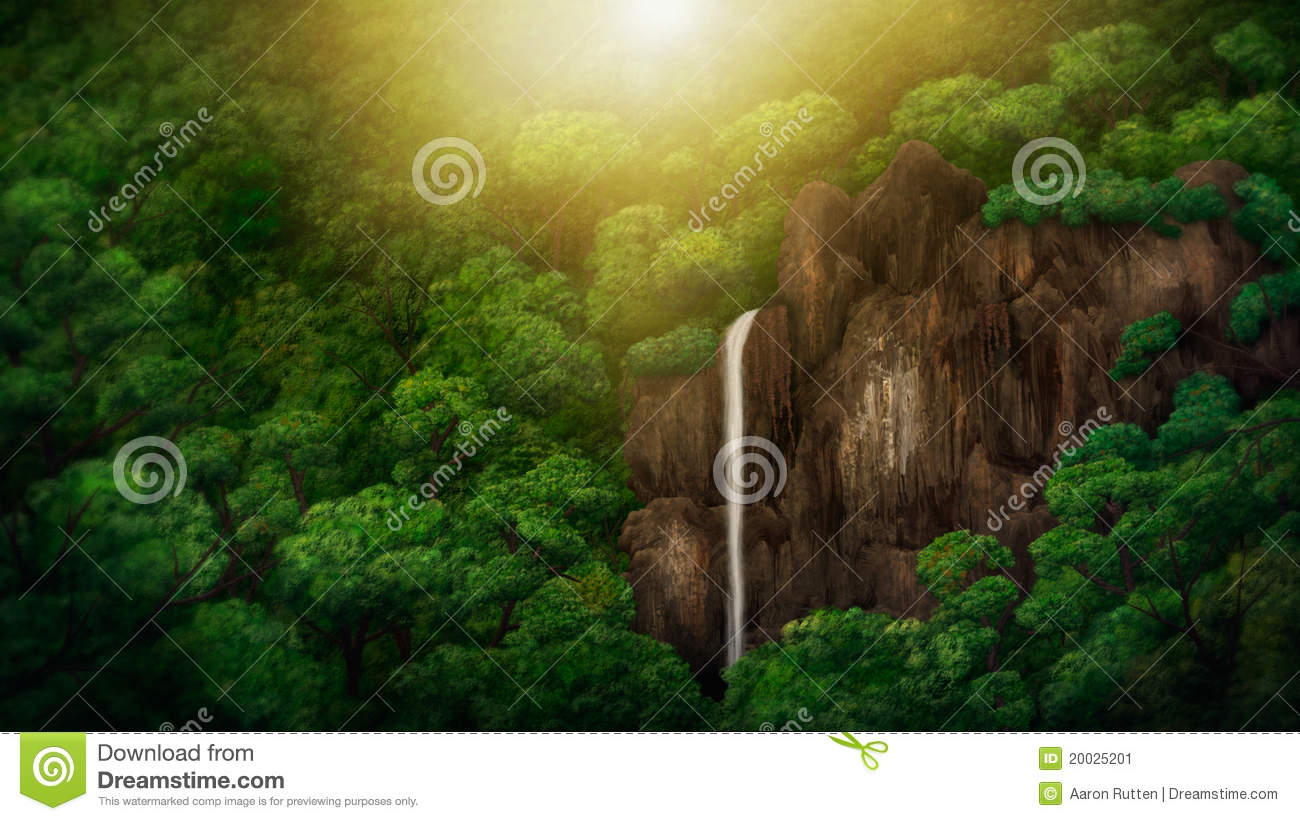 Jungle Canopy Digital Painting & Jungle Canopy Digital Painting Stock Illustration - Illustration ...