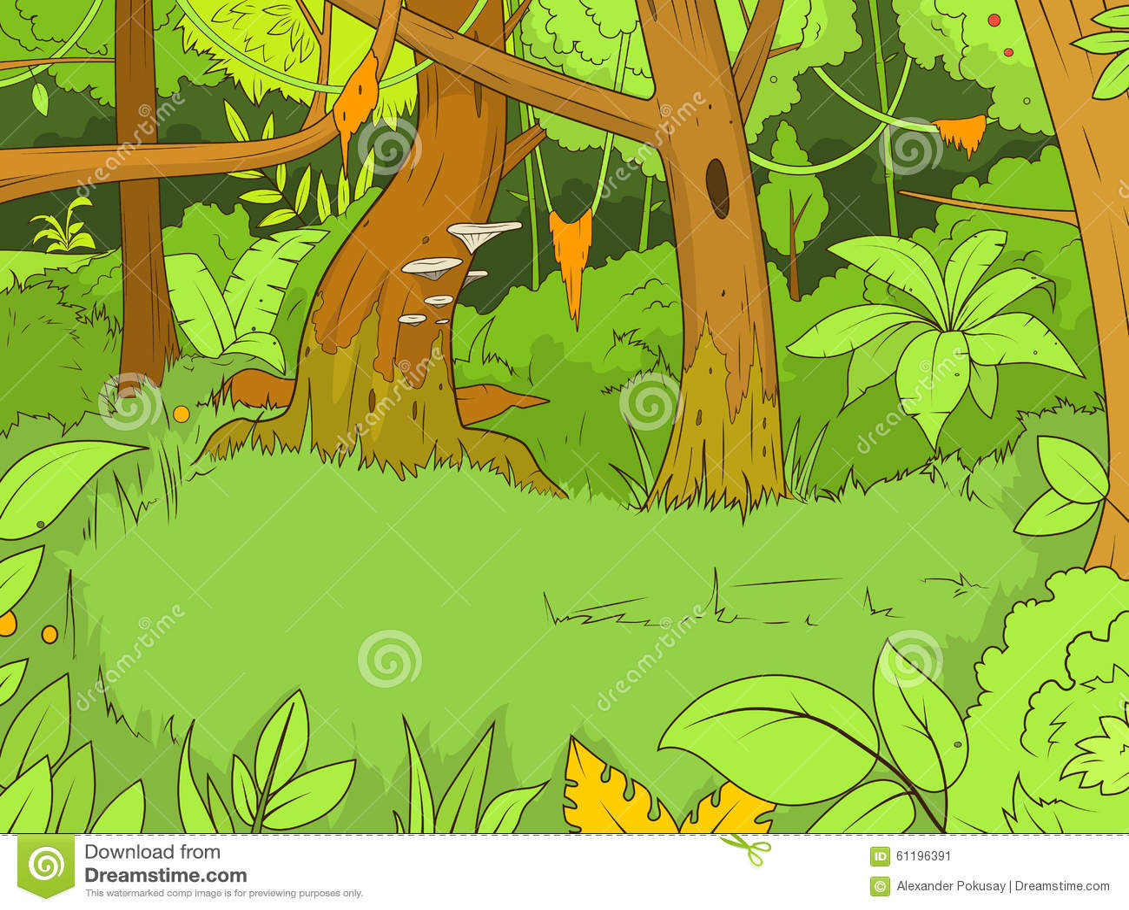 Jungle Forest Cartoon Vector Illustration Stock Vector ...