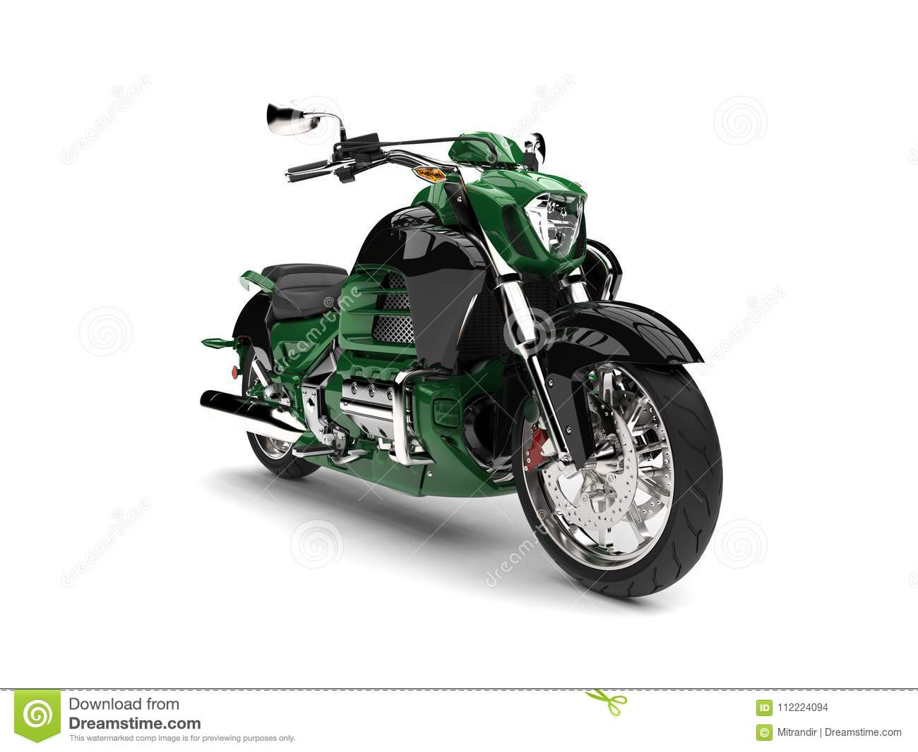 free motorcycle d  Jungle Green Modern Powerful Motorcycle Stock Illustration ...