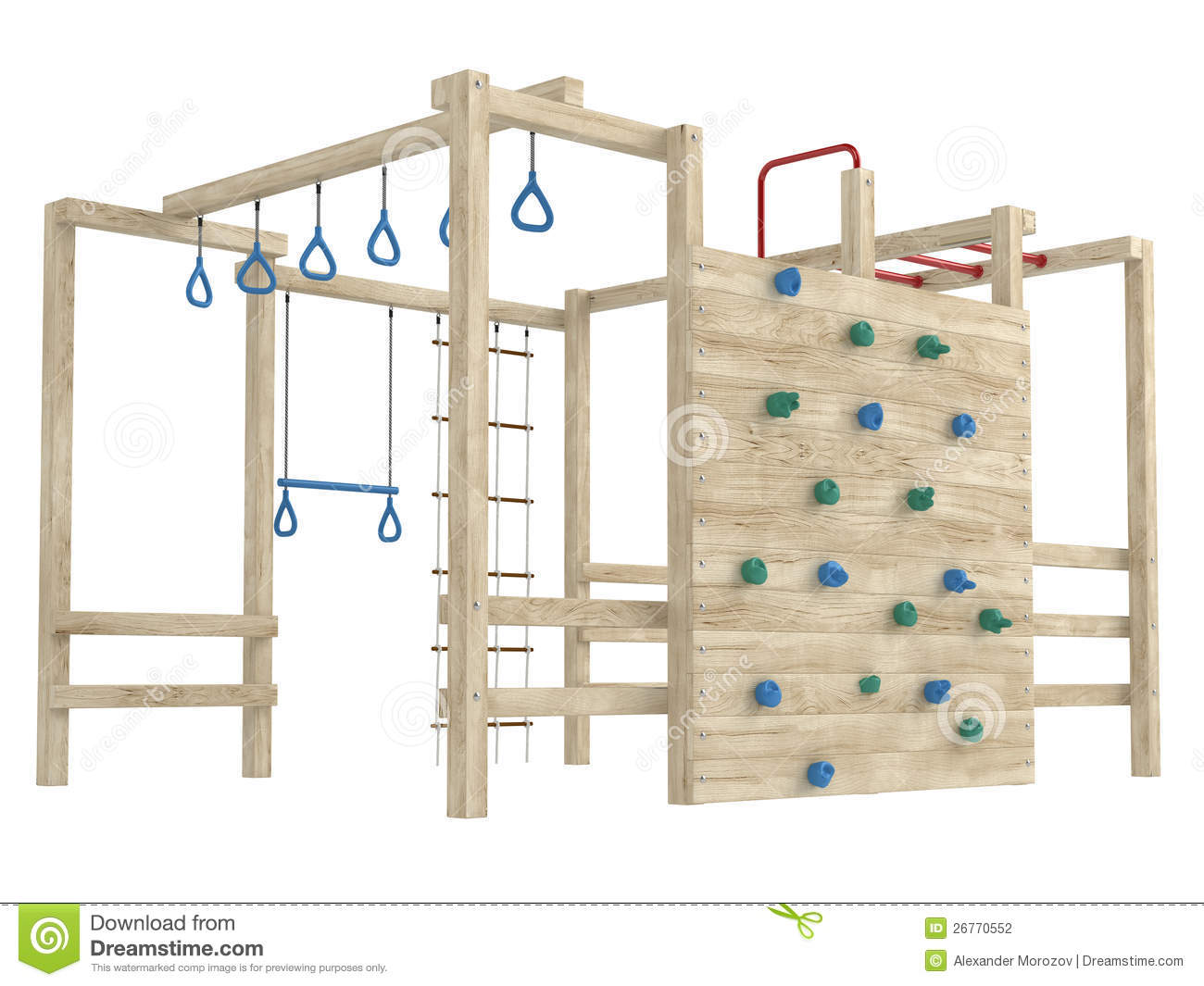 Jungle Gym Or Climbing Frame Stock Illustration